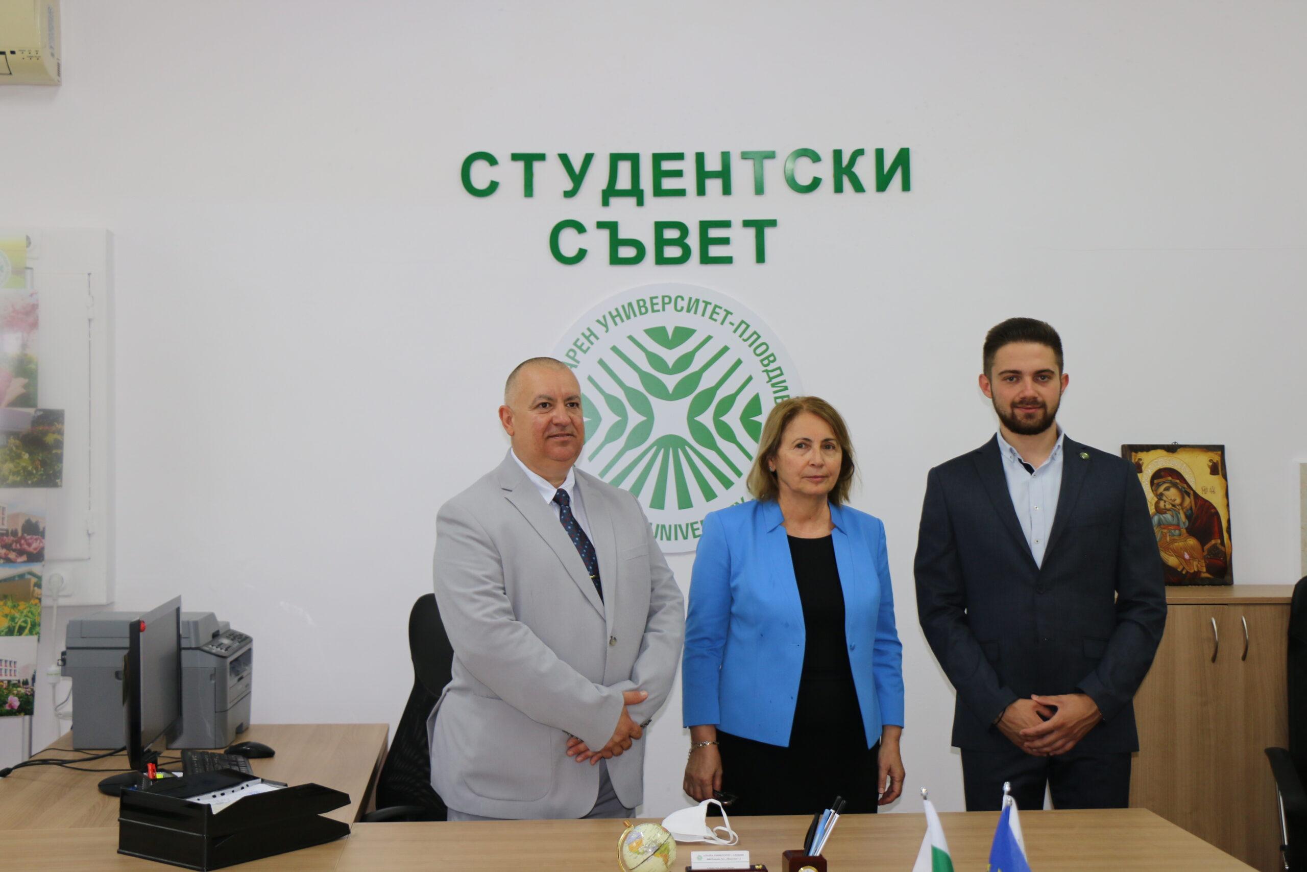 Студентски съвет при Аграрен университет – Пловдив официално откри своя нов кабинет